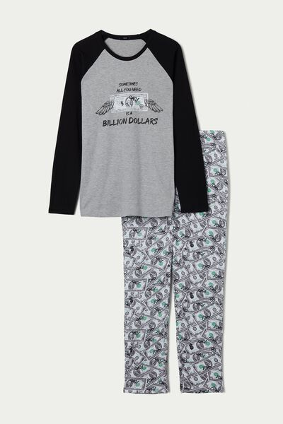Men's Long Dollar Print Pyjamas