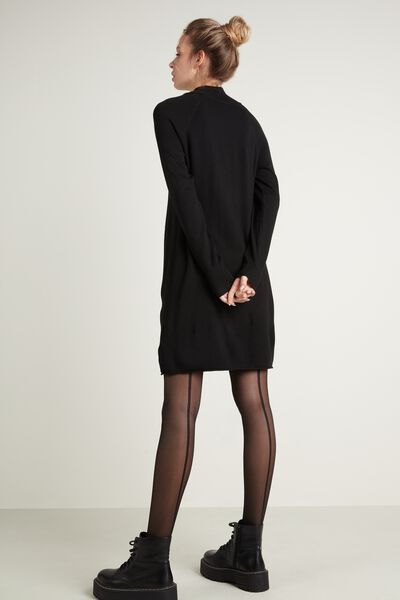 Mock Turtleneck Viscose Dress