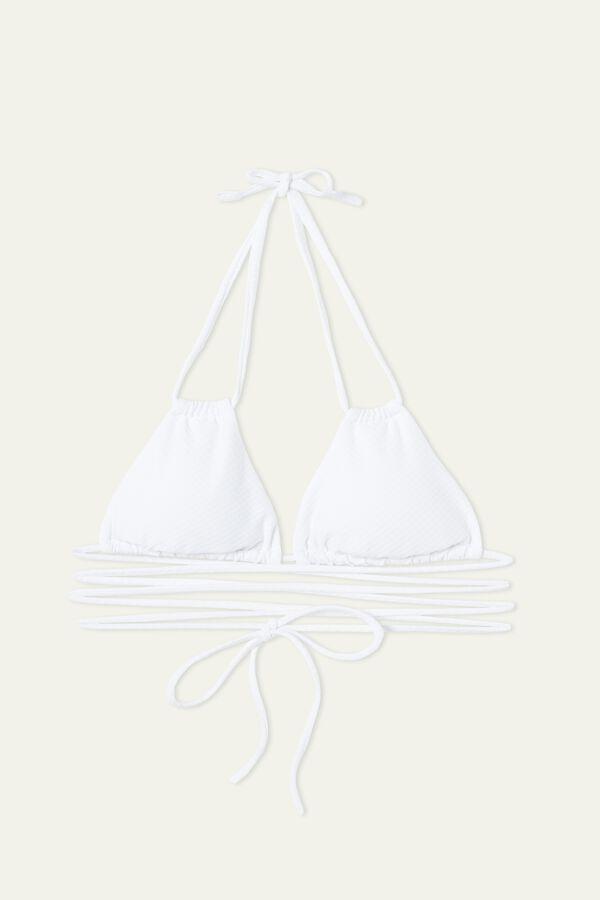 3D White Sliding Triangle Bikini