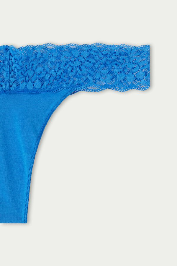 Recycled Cotton and Lace Brazilian Panties