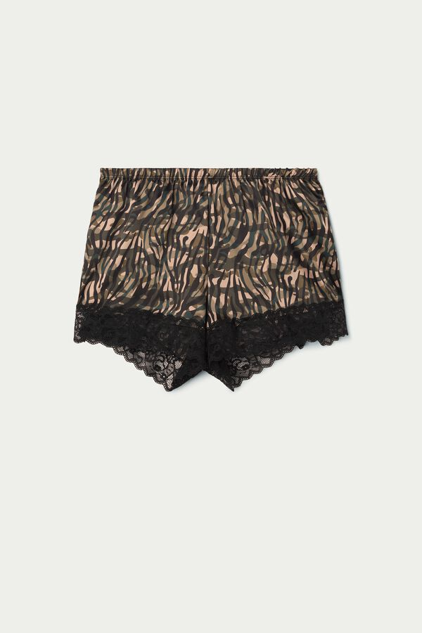 Satin and Lace Shorts