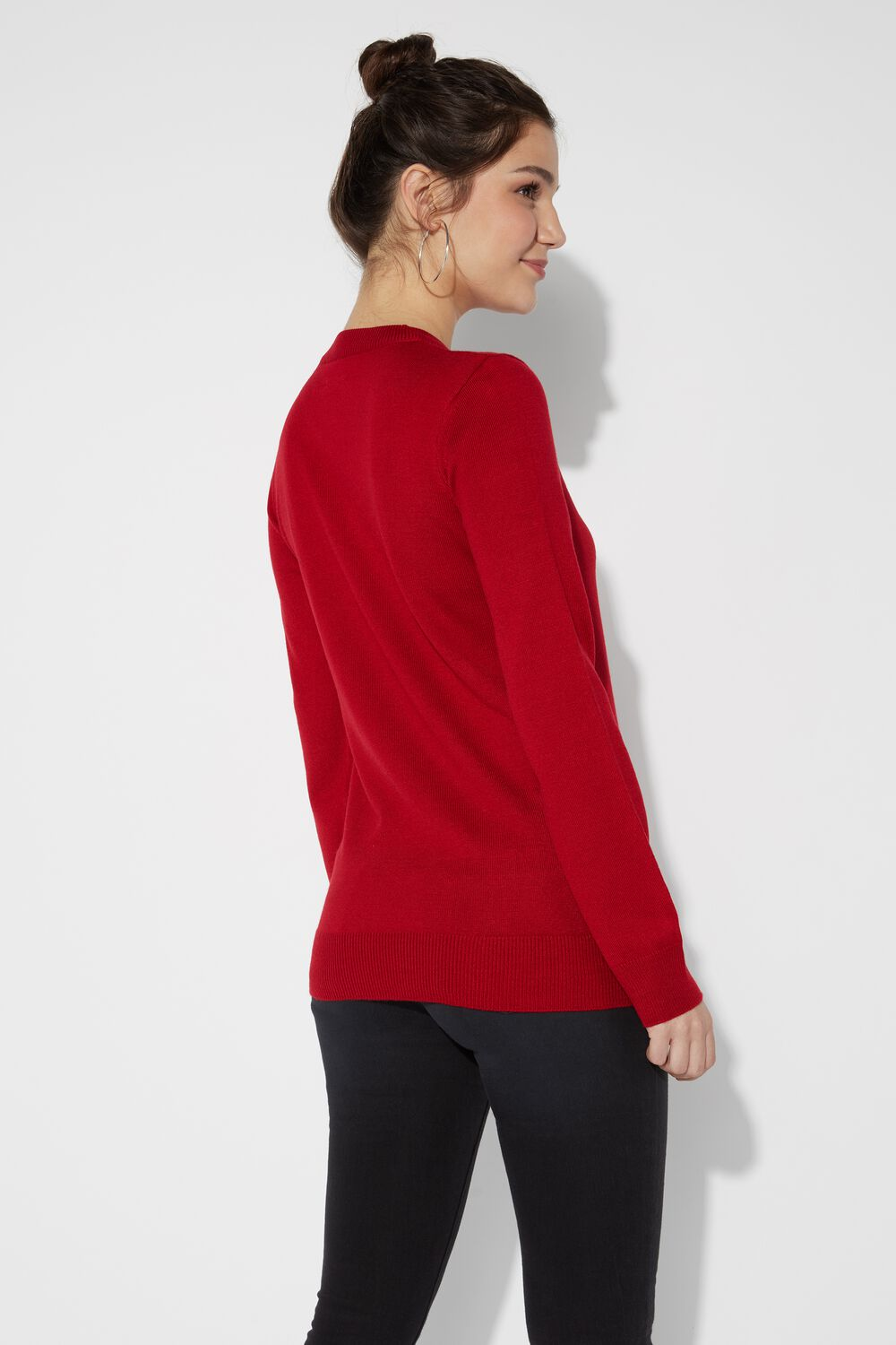 Long-sleeved Peanuts© Round-Neck Top