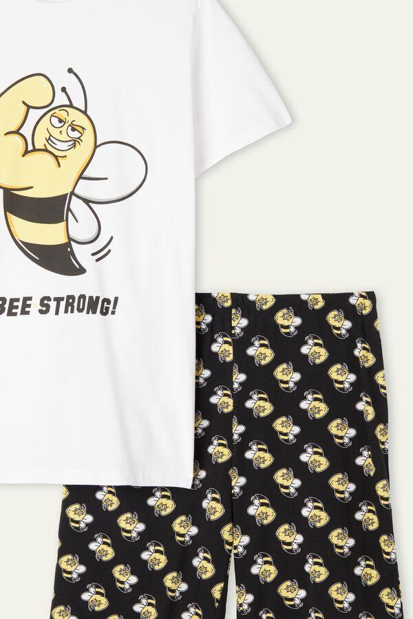 Men's Bee Print Organic Cotton Short Pyjamas