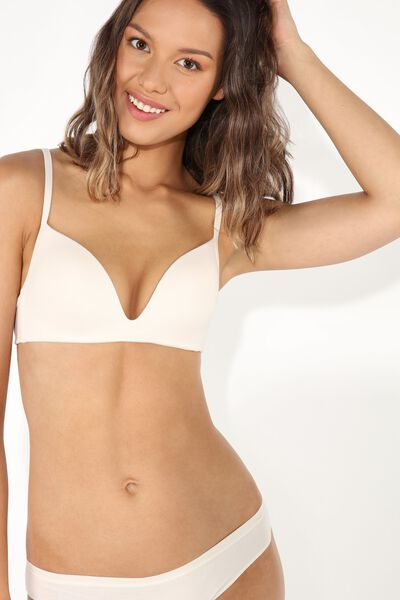 London Non-Wired Padded Triangle Bra in Cotton