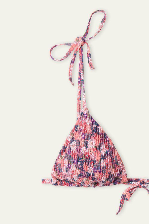 Bikini Triangolo Punto Smock Summer Flower