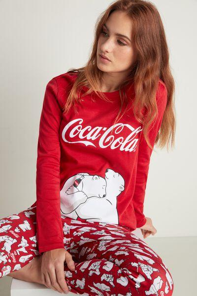 Długa Piżama z Bawełny Coca Cola