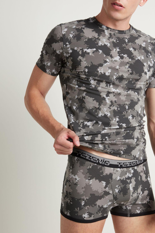 T-shirt en Coton Élastique Nuancé