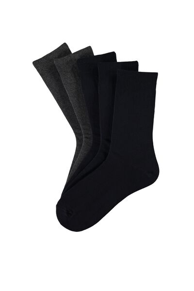 5 X Short Warm Cotton Socks