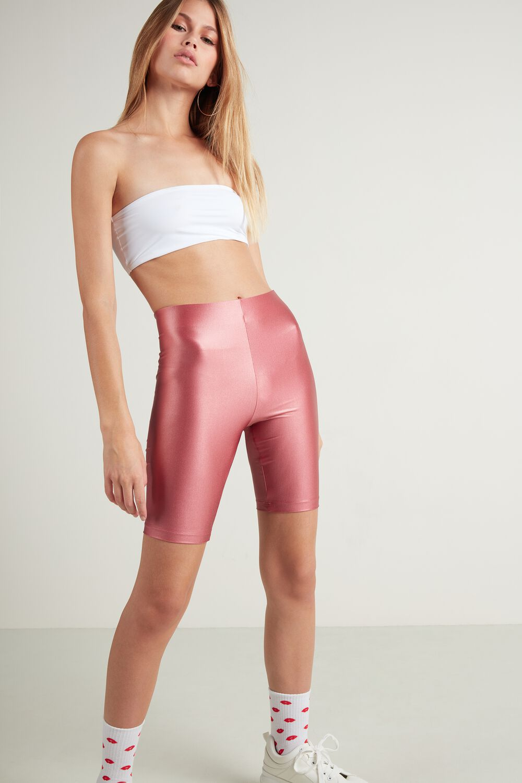 Shiny Microfiber Biker Shorts