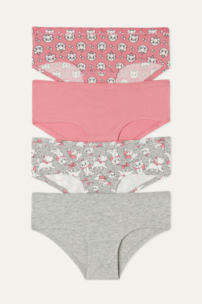 Pack of 4 Cotton French Knickers with Disney Aristocats Print