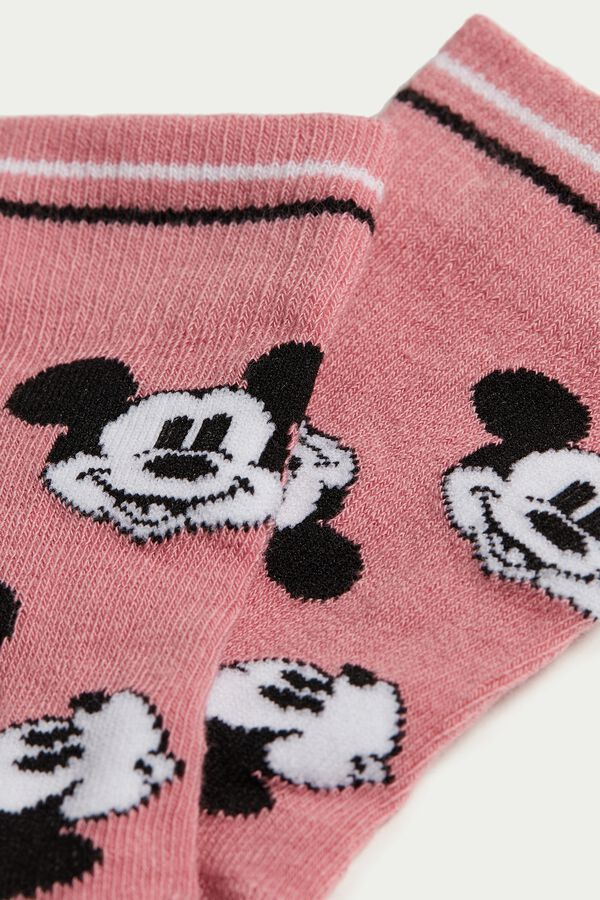 Short Mickey Mouse Pattern Cotton Socks