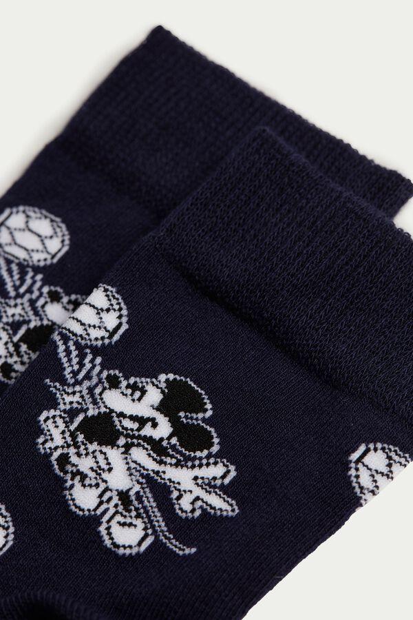 Short Mickey Mouse Pattern Cotton Socks