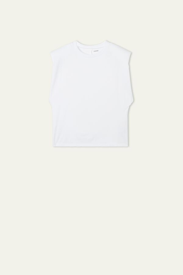 Cotton Padded Strap Tank Top