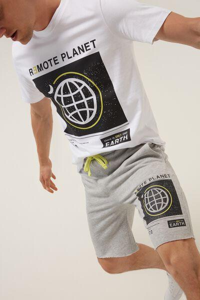 Laser Cut Fleece Shorts