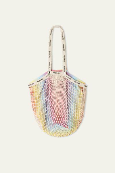 Netz-Strandtasche aus Recycling-Baumwolle