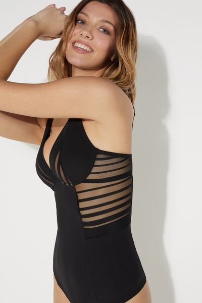 Miami Raw Edge Lines Bodysuit