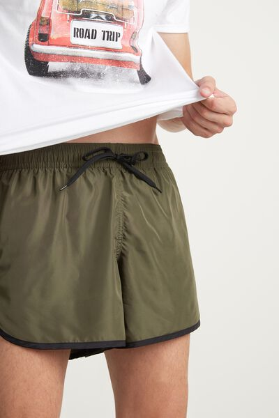 Canvas Swimming Shorts with Edging