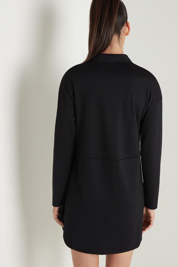 Long Sleeve Milano-Stitch Shirt Dress