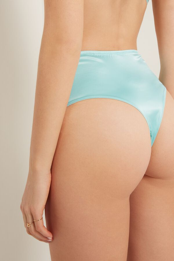 Pastel Satin High-Waist French Knickers