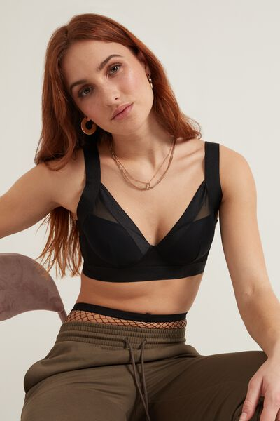 Wien Invisible Mesh Lightly Padded Balconette Bra