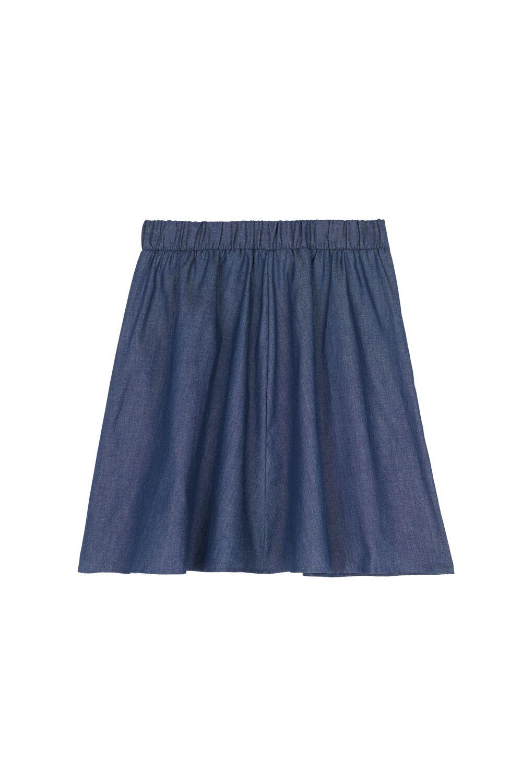 Full Cut Short Fabric Skirt