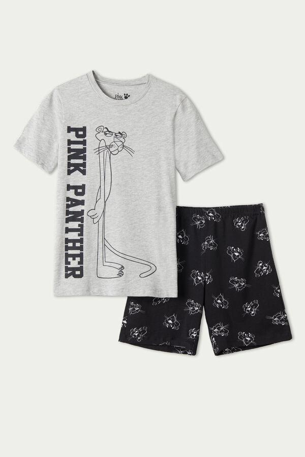 Krátke Pyžamo s Potlačou Ružový Panter