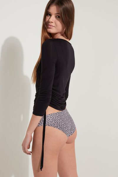 Raw Edge Printed Panties