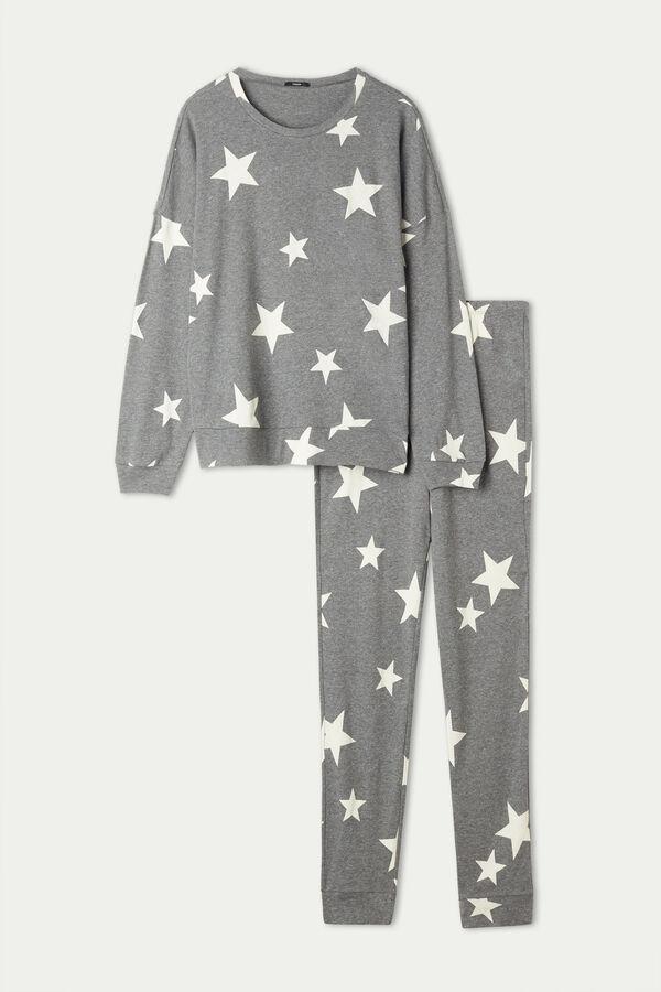 Star Print Long Cotton Pyjamas