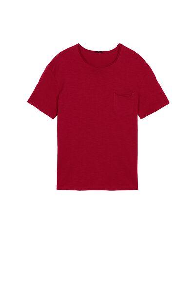 Koszulka z Bawełny z Kieszonką