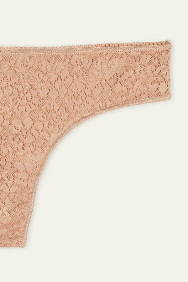 Recycled Lace and Laser Cut Microfibre Brazilian Briefs
