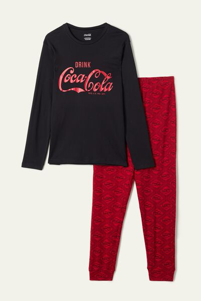 Men's Long Coca Cola Print Pyjamas