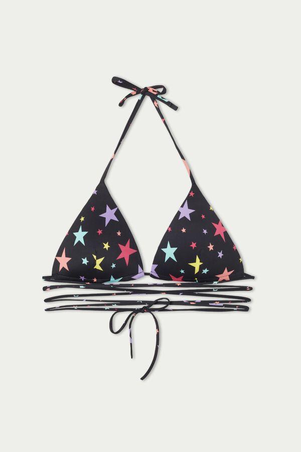 Verstellbares Triangel-Bikinioberteil Color Stars