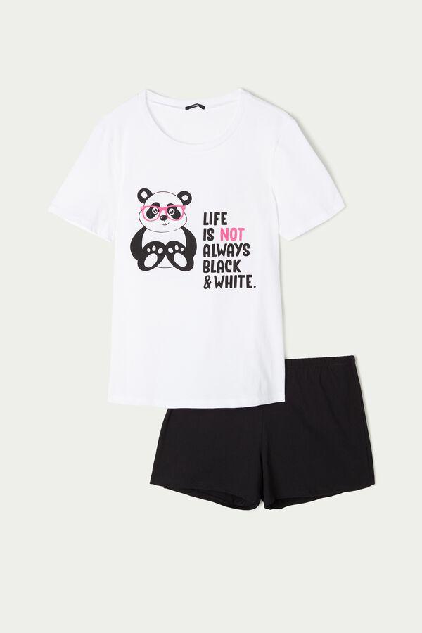 Panda Print Short Pajamas