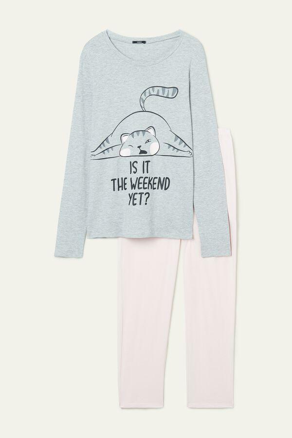 Cotton Weekend Print Pajamas