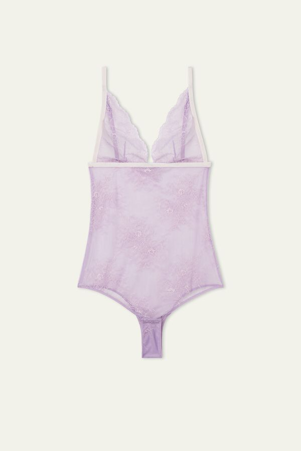 Soft Lace Triangle Bodysuit