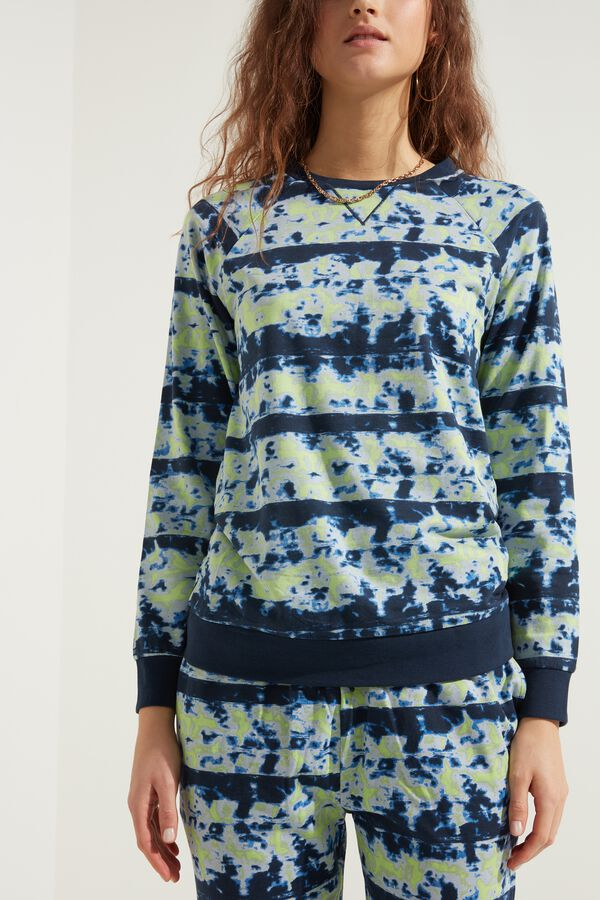 Long-Sleeved Printed Cotton Sweatshirt