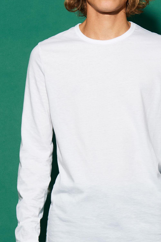 Maglia Manica Lunga Girocollo Jersey Cotone