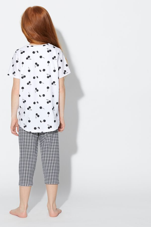 Cropped Cherry Pyjamas