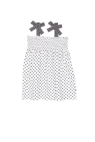 Polka Dot Smock Cotton Dress