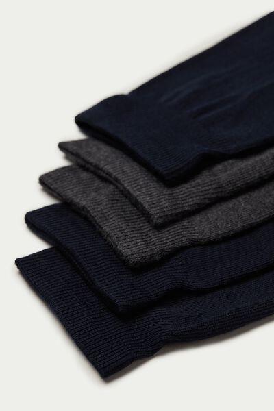 5 Paires de Chaussettes Basses en Coton Chaud