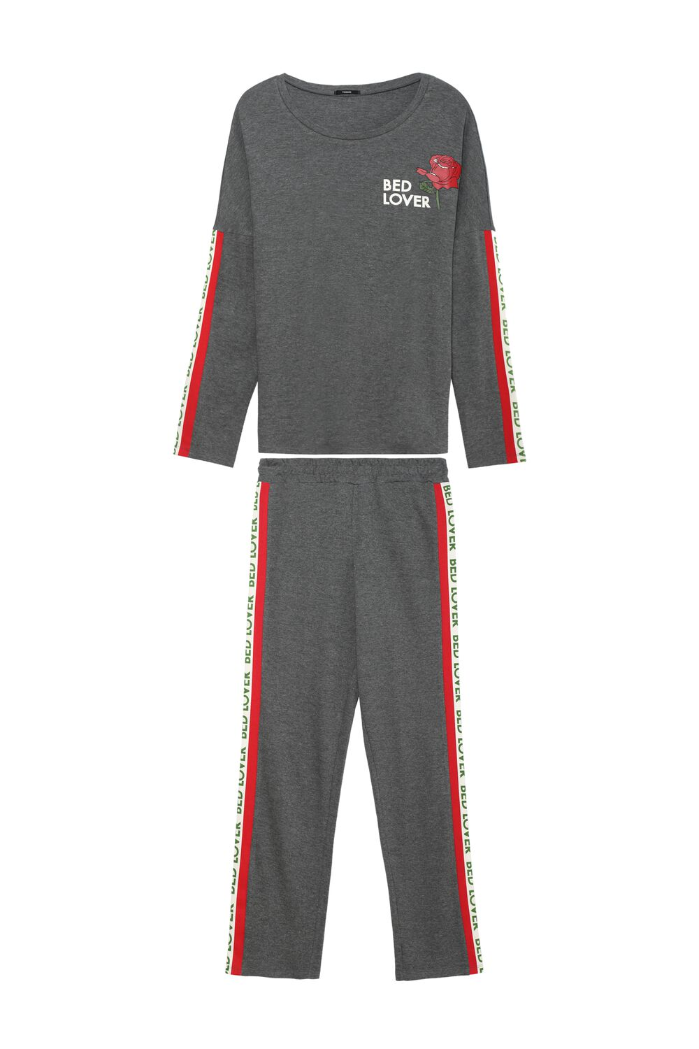 Long Pajamas with Lettering Bands