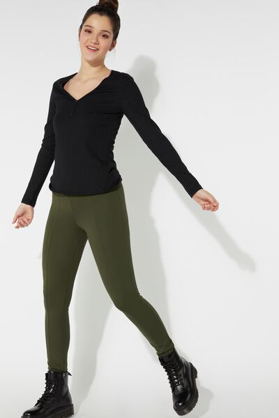 Milano Stitch Leggings with Topstitching