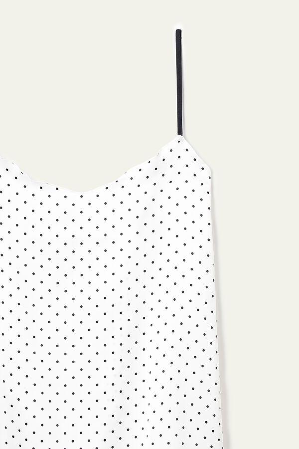 Camiseta de Tirantes de Raso con Microlunares