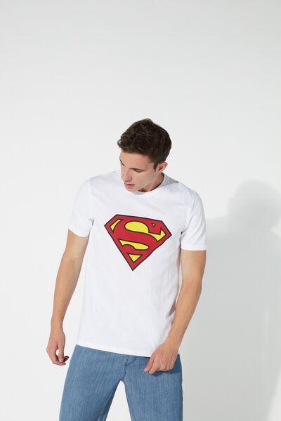 Koszulka z Bawełny z Komiksowym Nadrukiem