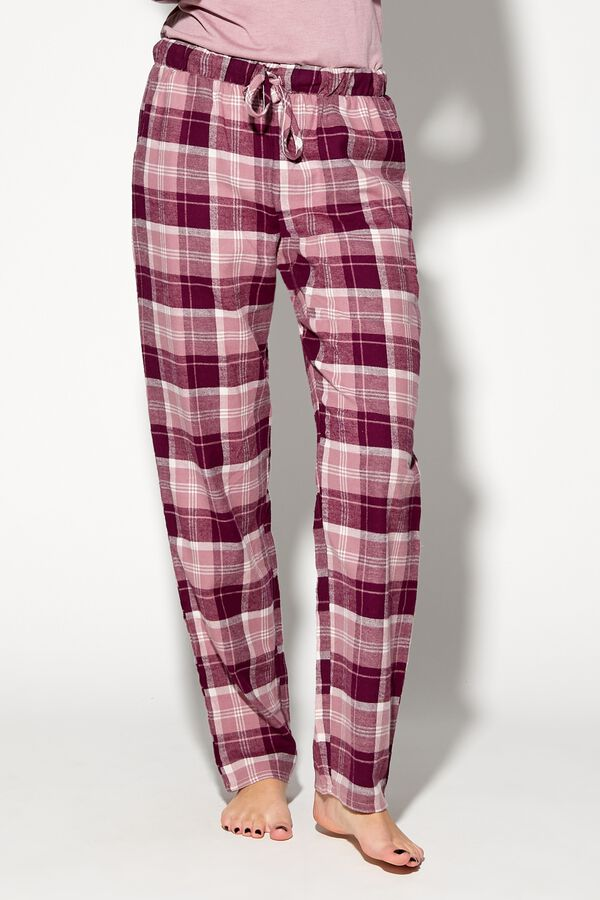 Pantalon Long Flanelle avec Cordon de Serrage