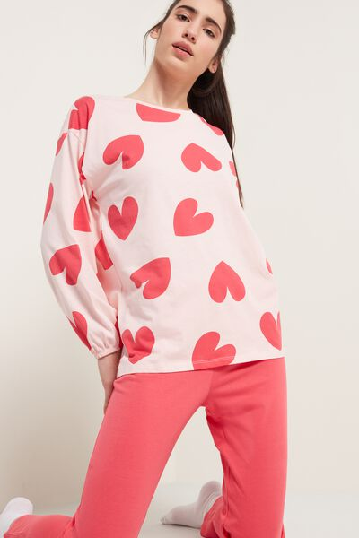 Heart Print Long Pyjamas