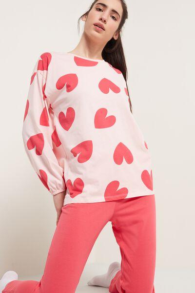 Hearts Print Pajamas