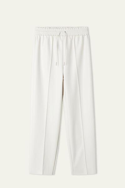 Pantalón de Chándal Revestido con Costura en Relieve