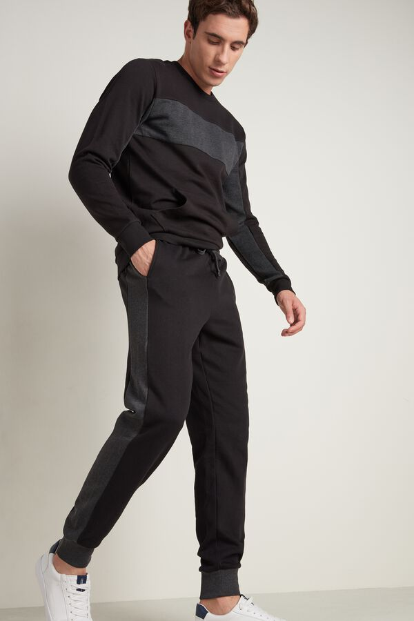 Two-Tone Jogging Bottoms