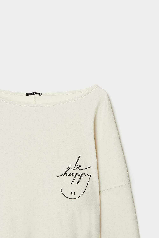 Camiseta Manga Larga con Volantes